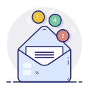 email, inbox, letter, message, notifications icon