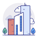building, business, finance, office icon
