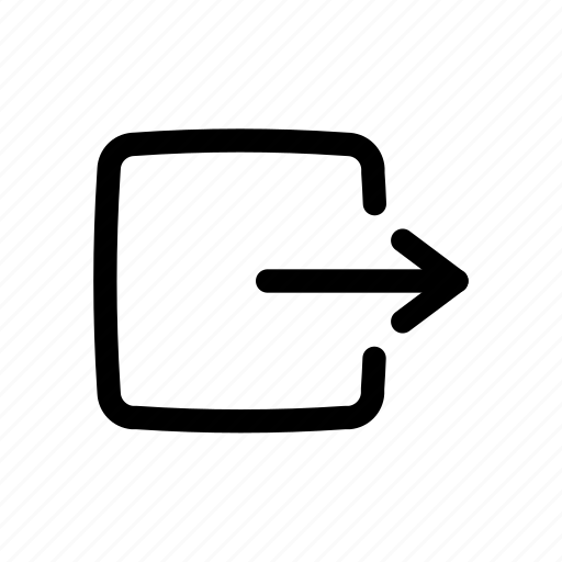 Arrow, logout, menu, navigation, ui, ux icon - Download on Iconfinder
