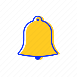 alarm, bell, caution, clock, sign, warning icon