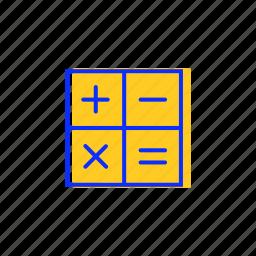 accounting, calculation, calculator, digital, education, mathematics icon
