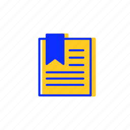 bookmark, bookmarks, document, documents, favorites, file icon