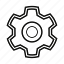 cog, gear, seo, settings, sprocket icon icon