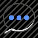 chat, message, talk, bubble