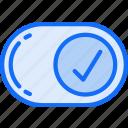 complete, correct, done, essentials, tick icon