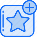 add, essentials, favourite, like, star icon
