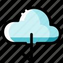 arrow, arrows, cloud, cloud computing, data, download, internet icon