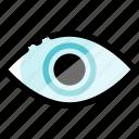 display, eye, look, media, screen, view, watch icon