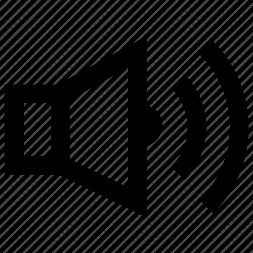 audio, loud, sound, speaker, volume speaker icon
