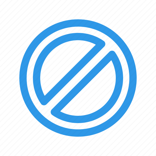 ban, block, disable, unavailable icon