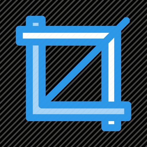 crop, design icon