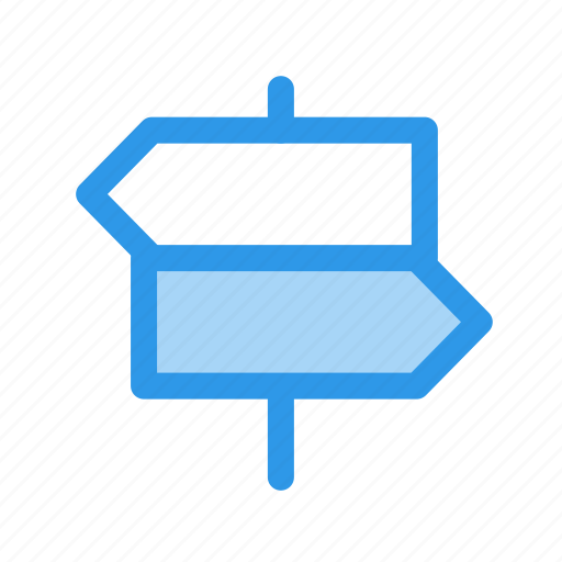 directions, navigation, sign icon