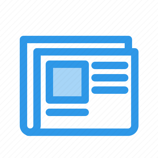 current, event, news, newspaper icon