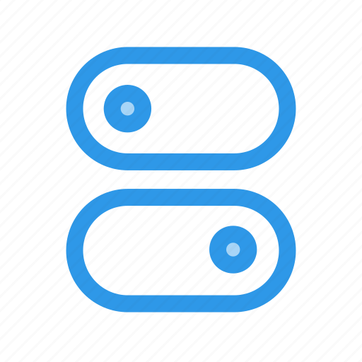 customizable, switch, toggles icon