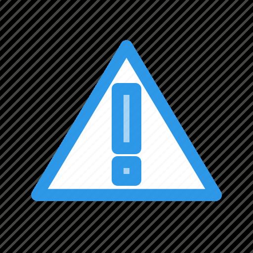 carefull, exclamation, triangle, warning icon