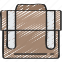 breifcase, business, case, essentials, suit case icon