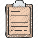 clipboard, essentials, paper, paperwork, schedule icon