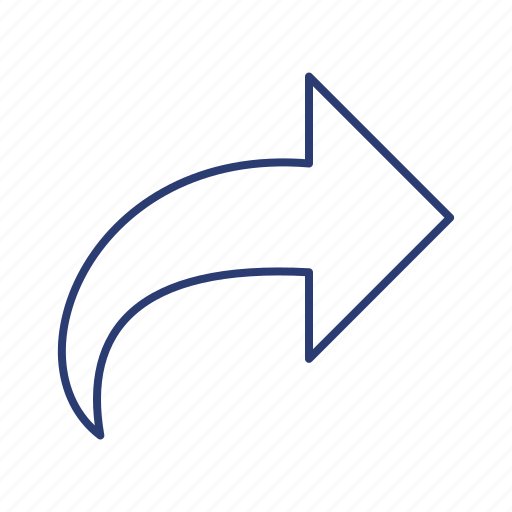 arrown, go, share icon