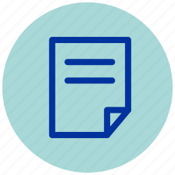 document, essential, iu, paper, sheet icon