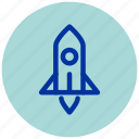 astronaut, essential, planet, rocket, sky, skyrocket, space icon