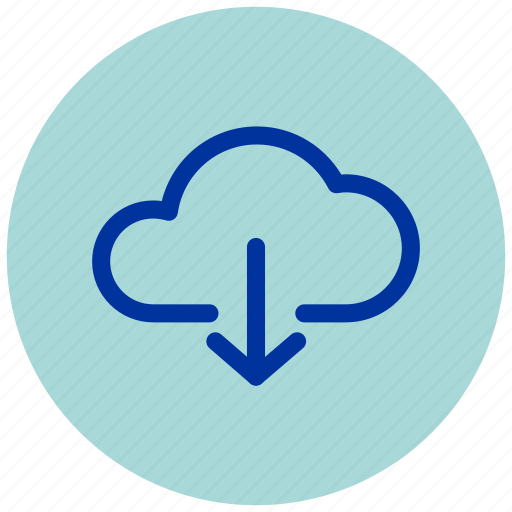 cloud, document, download, essential, internet, iu, web icon