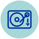 dj, essential, iu, music, record, turntable, vinyl icon