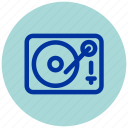 dj, essential, iu, music, record, turntable, vinyl icon