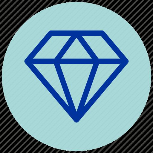 Diamond, essential, iu, premium icon - Download on Iconfinder