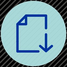 cloud, document, download, essential, internet, iu, web icon