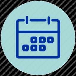 board, calendar, essential, iu, schedule, timetable icon