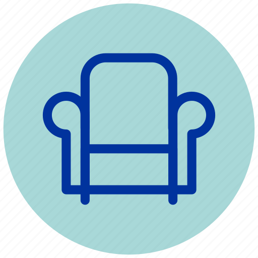 armchair, chair, couch, essential, furniture, iu, sofa icon