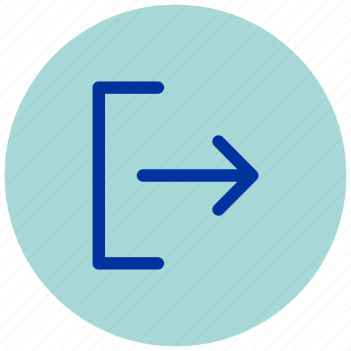 arrow, back, essential, exit, forward, iu, right icon