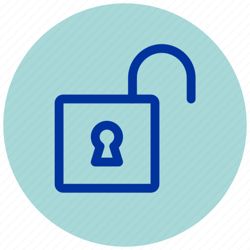 enter, essential, iu, open, padlock, unlock icon