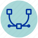 anchor, design, essential, illustrator, iu, point icon