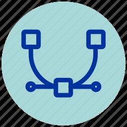 anchor, design, essential, illustrator, iu, point icon