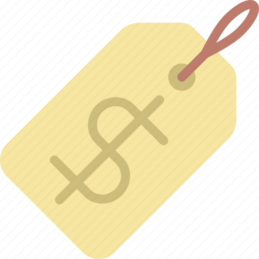 app, essential, interaction, misc, price, tag icon