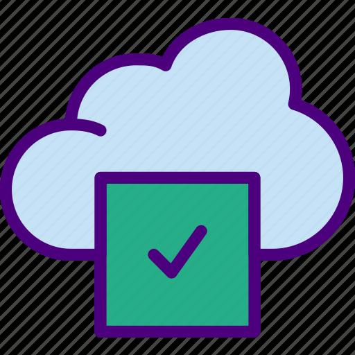 app, cloud, essential, interaction, misc, success icon