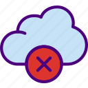 app, cloud, delete, essential, interaction, misc icon