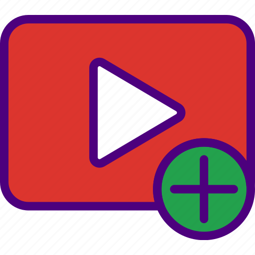 add, app, essential, interaction, misc, video icon