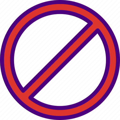 app, essential, forbidden, interaction, misc, sign icon