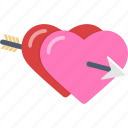 hearts, love, romance, valentine icon
