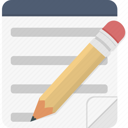 edit, entry, note, write icon