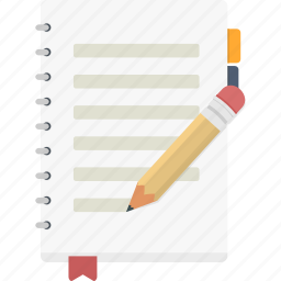 entry, journal, log, note, write icon