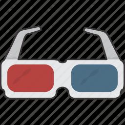 glasses, glasses 3d, movie icon