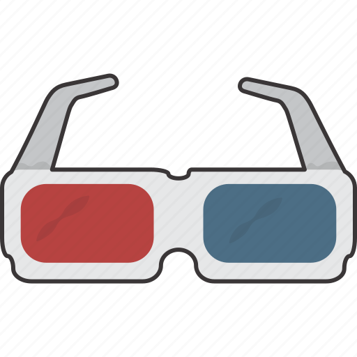 glasses, glasses 3d, movie icon