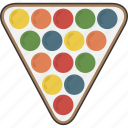 billiard, billiards, pool, rack, triangle icon