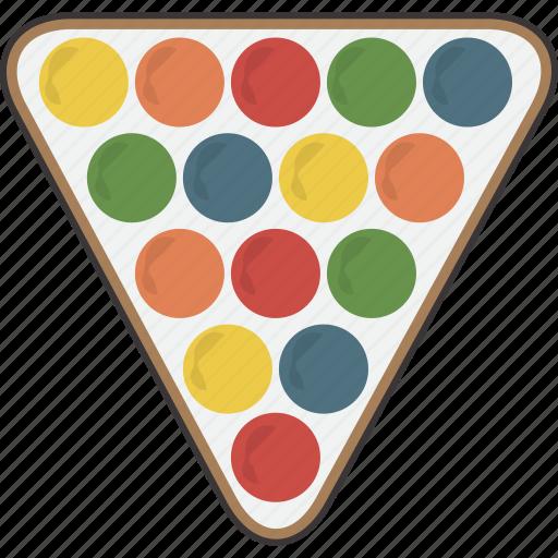 billiard, billiards, pool, rack, triangle icon