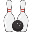 ball, bowling, pin, pins icon