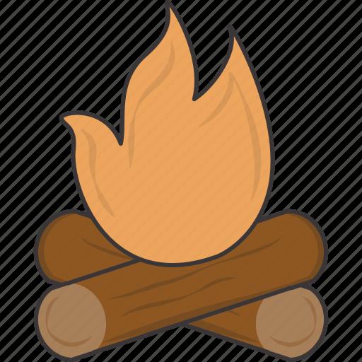 campfire, camping, fire icon