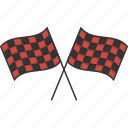 checkered, flags, race